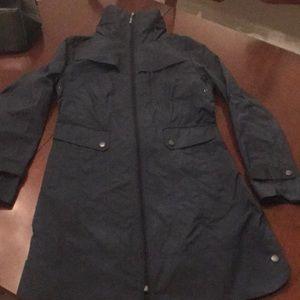 Cole Haan navy blue rain coat